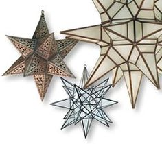 Mexican tin star lanterns