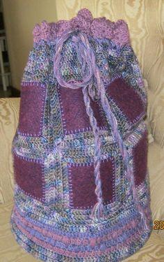 Felt and bamboo tote bag