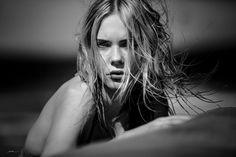 http://jeanschwarz.de/categories/werbung #lanzarote #girl #bw #blackwhite #photography #summer #beach #mood #blonde #hair #beachhair