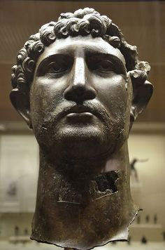Bronze head from a statue of the Emperor Hadrian, Romain Britain, British Museum | Flickr - Photo Sharing!