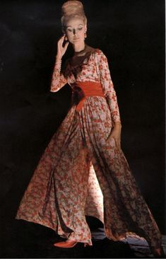 In Vogue Magazine-November 1963-Loungewear-At Home Fashions ...
