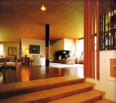 Villa Mairea, by Alvar Aalto, in Noormarkku, Finland. Alvar Aalto, Scandinavian Architecture, Interior Architecture, Interior And Exterior, Dynamic Architecture, Scandinavian Interiors, International Style Architecture, Architecture Organique, Villa