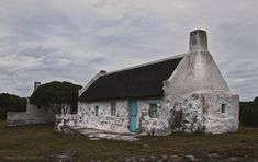 Hotagterklip by Martha van der Westhuizen on Historic Fisherman's Cottage in Struisbaai, Western Cape, South Africa Fishermans Cottage, All About Africa, Cape Dutch, Building Painting, Dutch House, Best Barns, South African Artists, Country Farm, Beach Cottages