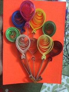 Quilling balloons