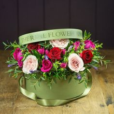 Silk flowers from the potting shed for your home pinterest the real flower company valentines hat box arrangement 125 liked on polyvore featuring mightylinksfo