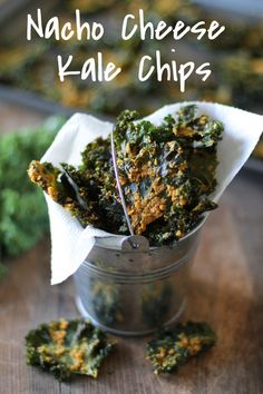 Nacho Cheese Kale Chips from @TheRoastedRoot - Super crispy and addicting! Made with tahini and nutritional yeast #vegan #healthy #snack #recipe