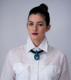 Short Link Leather Crochet Necklace. Leather Jewelry, Hand Crochet, My Images, Crochet Necklace, Link, Design, Fashion, Moda, Fashion Styles