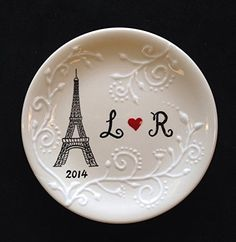 Eiffel Tower Ring dish Engagement gift Wedding gift  Valentines day gift Paris ring holder ** Home decor details can be found by clicking on the image.