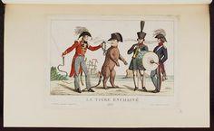 1815:Bodleian Libraries, Le tigre enchainé- Napoleon Bonaparte premier consul s'est rendu à Notre Dame pour y entendre la Sainte Messe célébrée p.French political cartoon; References: De Vinck, No. 9800.;