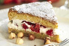 Berry and Hazelnut Cake