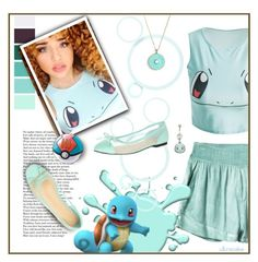 """""""Squirtle"""" by ultracake ❤ liked on Polyvore featuring Seed Design, RVCA, Kate Spade, John Lewis, Nintendo, Blue, Pokemon, squirtle and ultracake"""