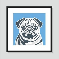 Found it at Wayfair - Pug Graphic Art