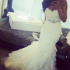 My wedding dream dress - Paloma Blanca 4115 - It was perfect for my destination wedding.