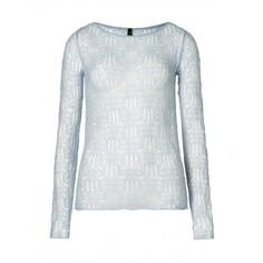 Long sleeve jumper, made from mohair macramé effect with boat neck collar.