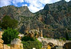 Delphi is on the slopes of Mount Parnassus, a truly monumental, awe-inspiring mountain.  #mybeautifulair