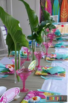 Luau Birthday Party Ideas - Hawaii Themed Decorations and Food Ideas