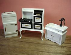1:12 Scale Miniature Vintage Kitchen Set