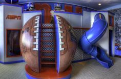 Very Amazing Playroom for Kid with Football Theme, Giant Ball Ladder and Spiral Slide by Jason Hulfish