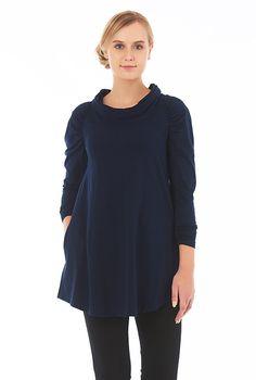 Cowl neck cotton knit top #eShakti