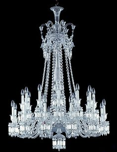 Classic Lighting, Cool Lighting, Glass Chandelier, Chandelier Lighting, Baccarat Crystal, Candle Lamp, Pretty Lights, Traditional Chandeliers, Ceiling Lights