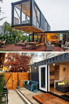44 Must See Shipping Container Homes - House Topics Nowadays shipping container homes are getting a lot of buzz this is mainly because of few reasons: Time saving You don't need to wait half a year or even … Shipping Container Home Designs, Cargo Container Homes, Building A Container Home, Storage Container Homes, Shipping Containers, Shipping Container Office, Shipping Container Buildings, Shipping Container Interior, Container Architecture