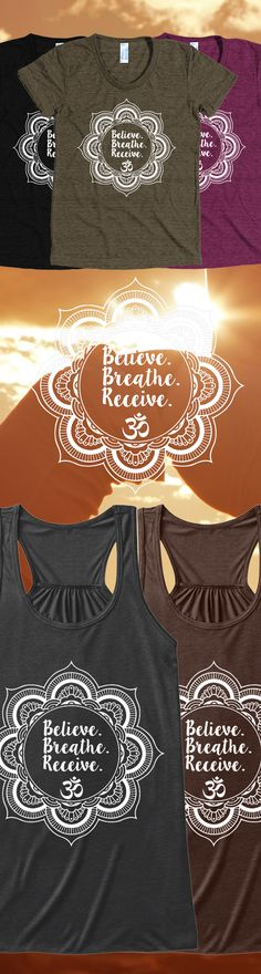 Discover Believe, Breathe, Receive Women's Tank Top from Pacific Threads, a custom product made just for you by Teespring. - Believe. Namaste, Photography Tattoo, Breathe, Believe, Summer Outfits, Cute Outfits, Nail Art, Fashion Beauty, Womens Fashion
