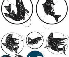 Fishing logo vector