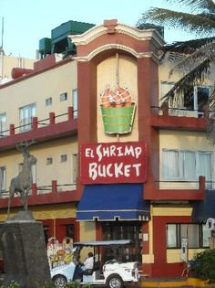 El Shrimp Bucket-Mazatlan Mexico... Excellent food and a great atmosphere.. Shrimp are the size of your fist.. Yummy!!