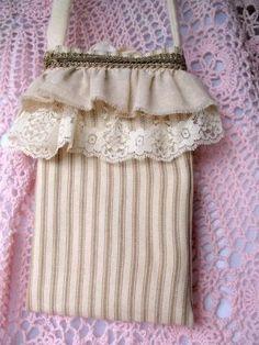 New   Stripes  Mini Shabby Chic Bag by simplyimpish on Etsy, $20.00