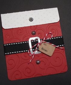 Santa Suit Gift Card Holder