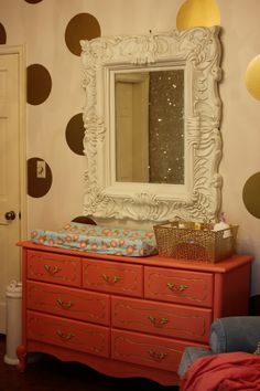 Project Nursery - dresser-mirror