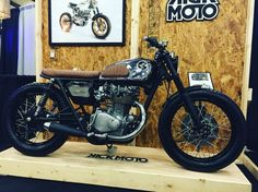 Custom 1972 Honda CB450 brat style cafe from KickMoto