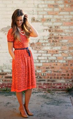 Beautiful orange dress to your collection – FEMALINE Pretty Outfits, Pretty Dresses, Beautiful Dresses, Cute Outfits, Stylish Outfits, Modest Dresses, Modest Outfits, Modest Fashion, Modest Clothing