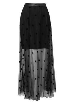 Coin Spot Maxi Skirt in Black   Witchery