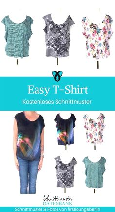 Damentanktop- Damentanktop Easy T-Shirt for Women Women Sewing Free Sewing Pattern Free Sewing Tutorial Freebie Sewing Idea Gift Idea - Baby Bonnet Pattern Free, Child Apron Pattern, Romper Pattern, Free Pattern, Neue Outfits, Komplette Outfits, Sewing Clothes, Diy Clothes, Dress Sewing Tutorials