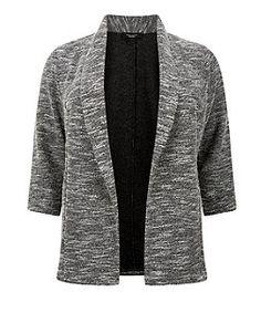 Plus Size Black Textured Blazer  | New Look
