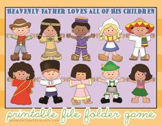 Paper Crafts: Children Around the World File Folder activity; can purchase for download, $2