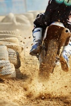 #dirtbiking his leathers will definitely need a clean after that...