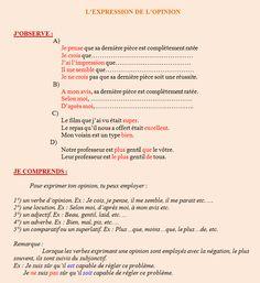 les verbes d opinion pdf