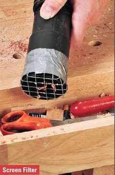 Metal or Cloth Screen Filter for Shop Vacuum Hose - Top 10 Workshop Tips | Rockler How-to