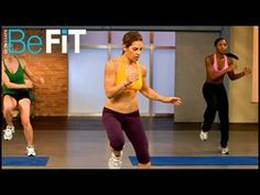 """Boost your metabolism and prepare to shred your muscles through dynamic stretching exercises in this 5 minute cardio warm up workout.    This workout is from Jillian Michaels DVD """"Banish Fat Boost Metablism"""".    For full selection of great workouts like this one, go to the BeFit Channel on YouTube at:  http://www.youtube.com/befit    Check us out on Fa..."""