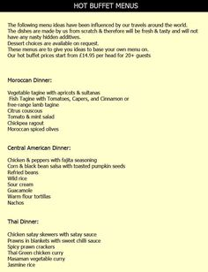 catering menu ideas | wildthymecafe.co.uk | Wild Thyme Cafe - Outside catering , Hog Roast