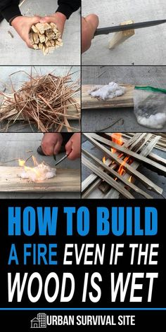 The great thing about fire is the principles of lighting it never change. You still need the same basic three things: oxygen, heat, and fuel. Survival Life Hacks, Survival Food, Camping Survival, Outdoor Survival, Survival Prepping, Survival Skills, Survival Supplies, Winter Survival, Bushcraft Camping