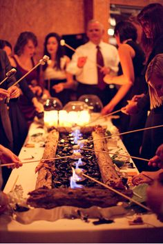 s'mores buffet table