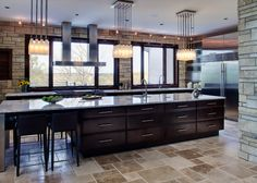 20 Kitchen Island With Seating Ideas Home Dreamy - Is your house feeling a little dated? Whether you want to overhaul your entire home in . Stone Kitchen, Eat In Kitchen, Kitchen Decor, Kitchen Ideas, Kitchen Layouts, Kitchen Black, Cheap Kitchen, Awesome Kitchen, Kitchen Photos