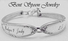 Personalized silverware spoon bracelet