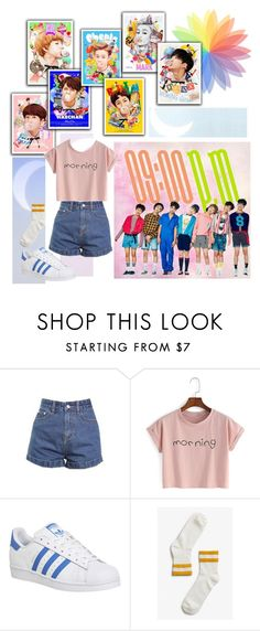 """NCT DREAM Chewing Gum"" by ninaxo17 ❤ liked on Polyvore featuring Ultimo, adidas and Monki"