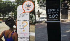 Projeto leva relatos de mulheres assediadas às ruas de Salvador