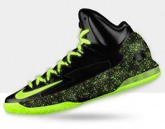 Kevin durant shoes 2013 KD V Black Fluorescent Green