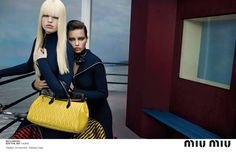 katlin, emily, daphne, georgia, adriana, marina, hind, anne and lindsey by inez & vinoodh for miu miu f/w 13.14 | visual optimism; fashion editorials, shows, campaigns & more!